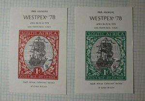 WESTPEX 1978 San Francisco South Africa Postage Revenue Philatelic Souvenir Ad