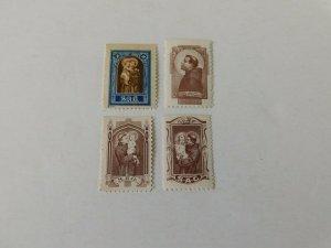 St Anthony Guild seals, 4 diff, Mint/NH/OG, 1950's era,