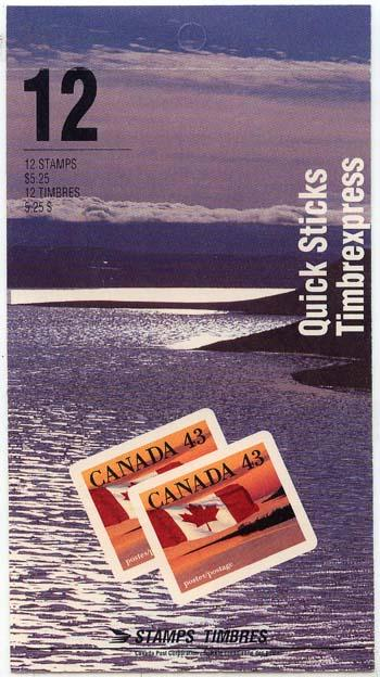 Canada USC #BK158a 12 Quick Sticks Stamps 1992 Booklet
