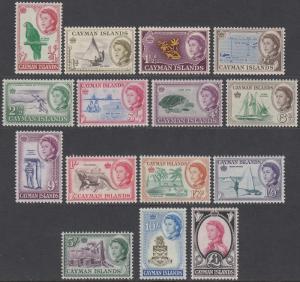 Cayman Islands 153-167 MNH VF CV $96.35