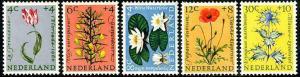 HERRICKSTAMP NETHERLANDS Sc.# B343-47 Flowers