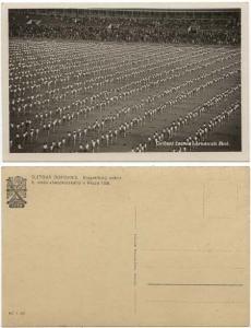 Czechoslovakia 1938 Actual Photo Card Large Gathering of Students Near Prague