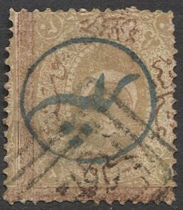 TURKEY 1869 Sc J21  Used 20pa with Constantinople Local Post overprint