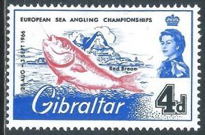 Gibraltar, Sc #177, 4d MH