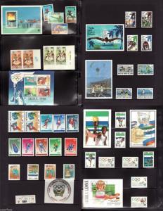 1988 Olympic sets s/s Turks Caicos Virgin Islands Romania Sri Lanka Lesotho ..
