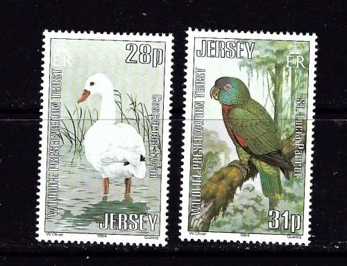 Jersey 324-25 NH 1984 birds high values of set