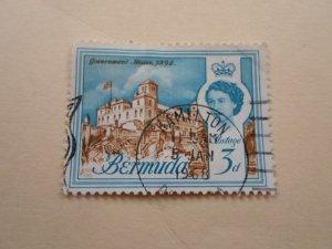BERMUDA STAMP. USED  HINGED ( 4 )