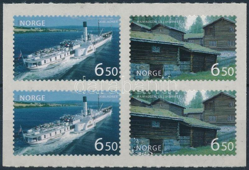 Norway stamp Tourism self adhesive block of 4 2006 MNH Mi 1581-1582 WS222967
