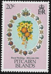 Pitcairn Island - SC# 206 - MNH - SCV$0.25 - Royal Wedding Charles and Diana