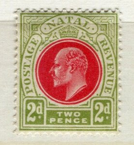 NATAL; 1904 early Ed VII issue fine Mint hinged 2d. value