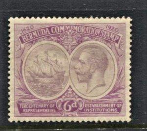 STAMP STATION PERTH Bermuda #69 KGV Definitive Very Fine MLH Wmk.4 - CV$35.00