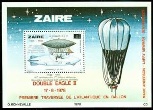 EDW1949SELL : ZAIRE 1985 Scott #1181 Zeppelin. Scarce S/S. VF MNH. Catalog $70.