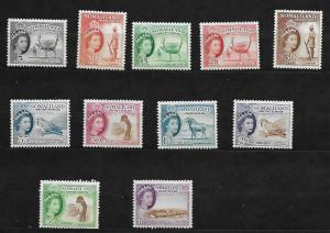 Somaliland Protectorate 1953-58 Complete Set Scott #128-139 Mint Never Hinged MN
