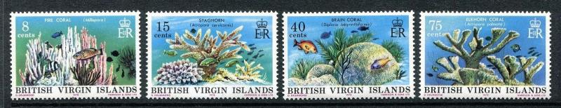 British Virgin Islands 333-336, MNH. Marine life 1978, Coral garden  x18866