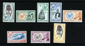 SIERRA LEONE 1961 Independence Part Set to 1s. SG 223 to SG 230 MINT