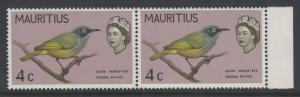 MAURITIUS SG319v5 1965 4c DEFINITIVE SHOWING BROKEN RIGHT HAND CLAW MNH