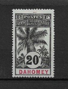 Dahomey 1906, 20c,Scott # 22,VF MLH*OG ,nice color ! (FG-6)