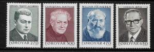 Faroe Is #175-8 MNH Set - Writers
