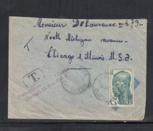 Cover Cameroun to Chicago IL Postage Due 1954