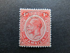 A4P21F10 Jamaica 1912-20 1d used