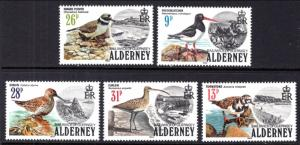Alderney 13-17 Birds MNH VF
