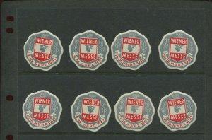 8 VINTAGE 1951 Germany WIENER MESSE SEPT 9-16 1951  POSTER STAMPS (L1162)