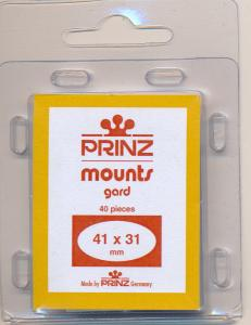 Prinz Scott Stamp Mounts Size 41 X 31 CLEAR Pack of 40