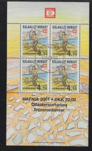 Greenland Sc B25a 2000 Drum Dance stamp sheet used