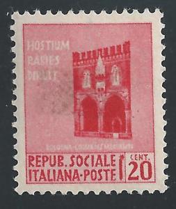 Italian Social Republic #18 20c Loggia dei Mercanti, Bologna