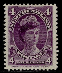 CANADA - Newfoundland QV SG89, 4c violet, M MINT. Cat £35.