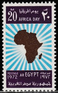 EGYPT 918, MAP OF AFRICA, AFRICA DAY, MINT, NH. F-VF. (383)
