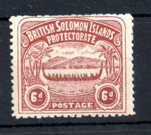 Solomon Islands 1906 6d chocolate mint MH SG6 WS13390