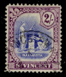 ST. VINCENT SG118, 2s blue and purple, FINE USED. Cat £40.