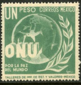 MEXICO 816, $1P Honoring the United Nations. Mint NH. F-VF.