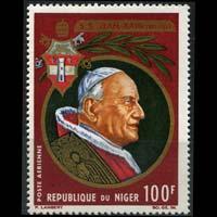 NIGER 1965 - Scott# C49 Pope John Set of 1 LH