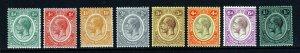 NYASALAND King George V 1921-33 Wmk Mult Script CA Set to 1/- SG 100 to 108 MINT