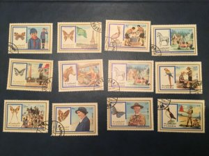 ICOLLECTZONE Fujeira Mi #999-1004, 1012-17 Boy Scouts (Bx1)