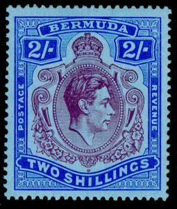 BERMUDA SG116, 2s deep purple & ultra/greyblue, (C), VLH MINT. Cat £110. CHALKY