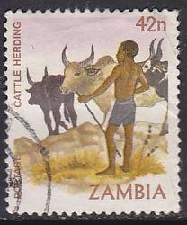Zambia 249 Hinged Used 1981 Cattle Herding