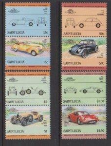 1985 St. Lucia Scott # 739-742 Automobiles MNH