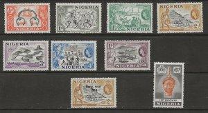 Nigeria Stamps 1953 Set QEII up to 1/- MINT MNH