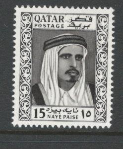 Qatar 1961 Sheik Ahmad bin Ali al Thani 15np Scott # 27 MH