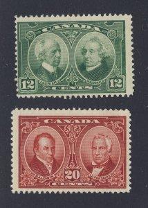 2x Canada Stamps  #147-12c MH Fine & #148-12c MH F/VF Guide Value = $37.50