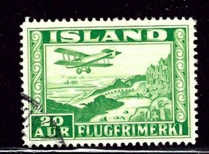 Iceland C16a Used 1934 issue Perf 14    (ap2651)