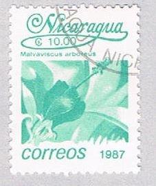 Nicaragua Flower teal 10 - pickastamp (AP109019)