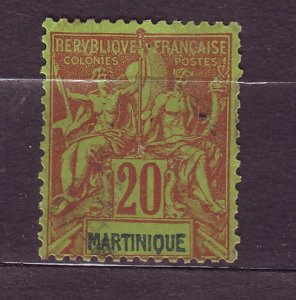 J23801 JLstamps 1892-1906 french martinique used #42 design