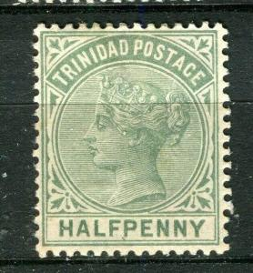 TRINIDAD; 1883 classic QV issue fine Mint hinged Shade of 1/2d. value