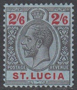 St. Lucia 74 MH CV $25.00