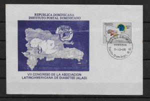 DOMINICAN REPUBLIC STAMP COVER #SEPTG2