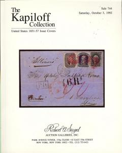 The Kapiloff Collection: United States 1851-57 Issue Cove...